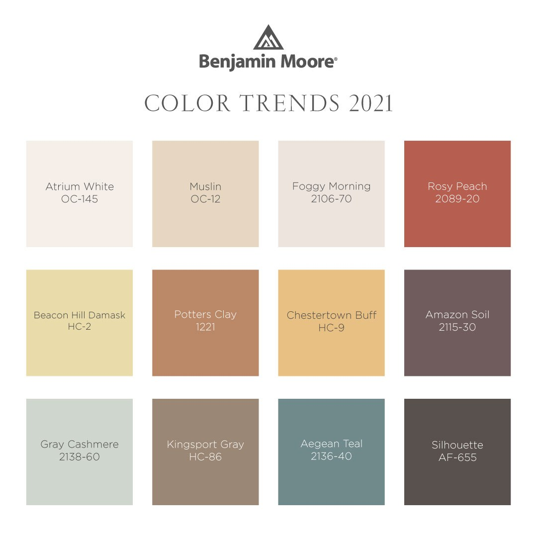 Comfortable & Uplifting Spaces. Color Trends 2021