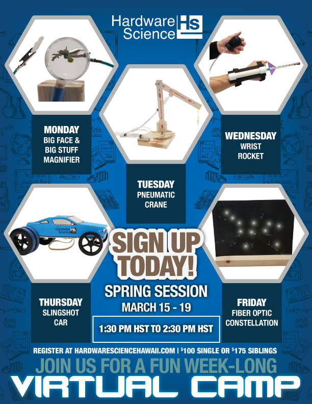 Spring Session March 15-19 Register Today!